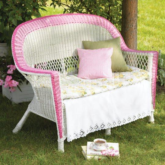 Garden wicker furniture