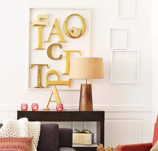 letter room decor