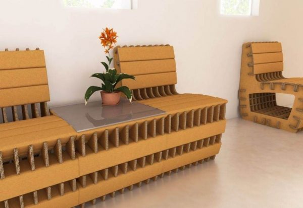 recycled cardboard boxes