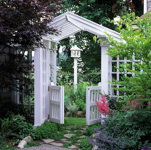 wooden garden gate designs