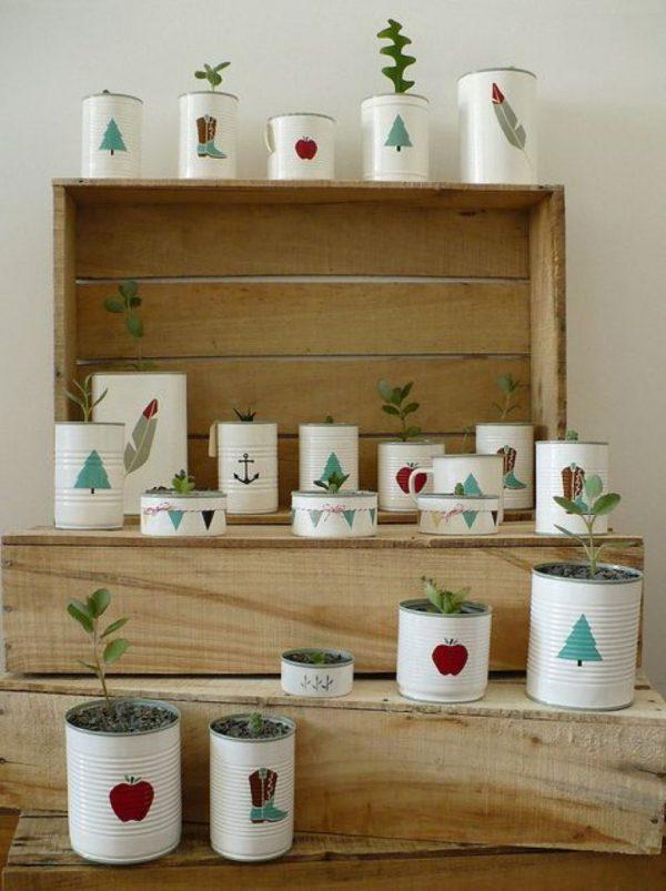 tin can plant pots