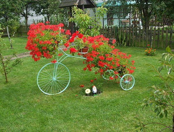 bicycle flower pot holder