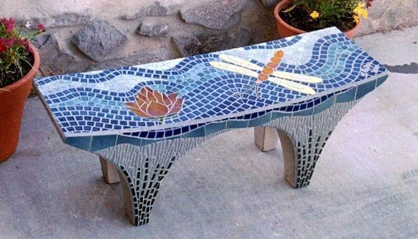 mosaic bench