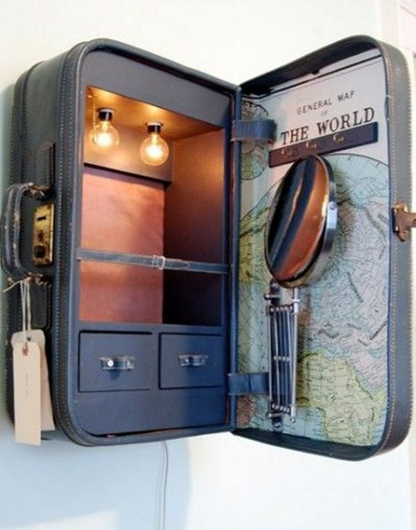 ideas for old suitcases