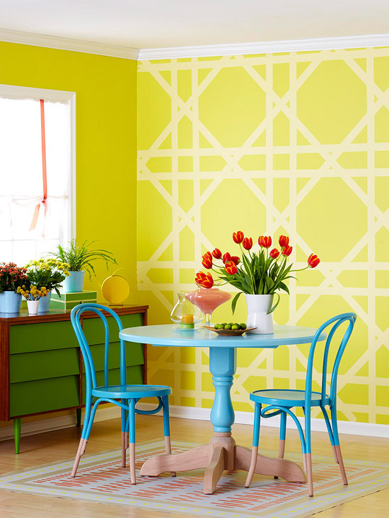 painted kitchen furniture