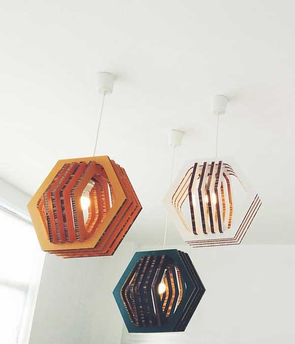 cardboard pendant light