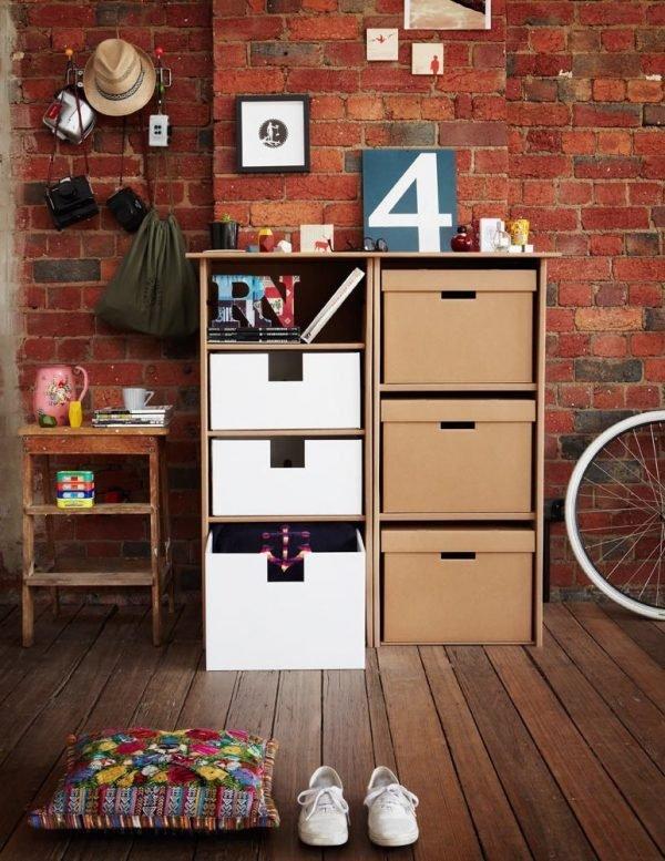 cardboard storage drawers