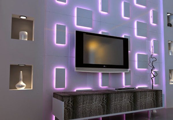 lcd tv wall design