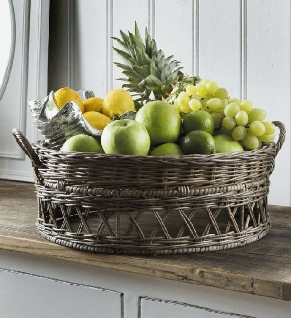 rattan fruit basket