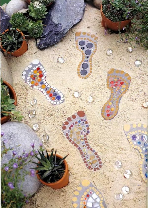 decorative garden stepping stones