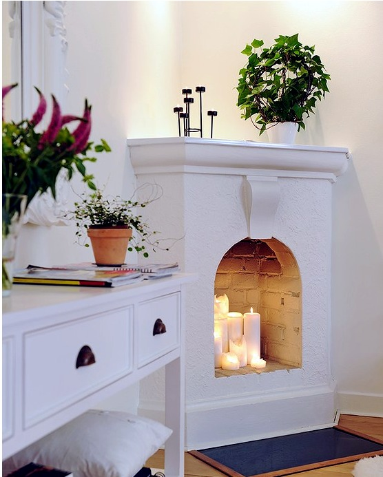 fireplace candles ideas