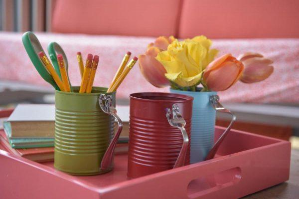 diy crafts with tin cans