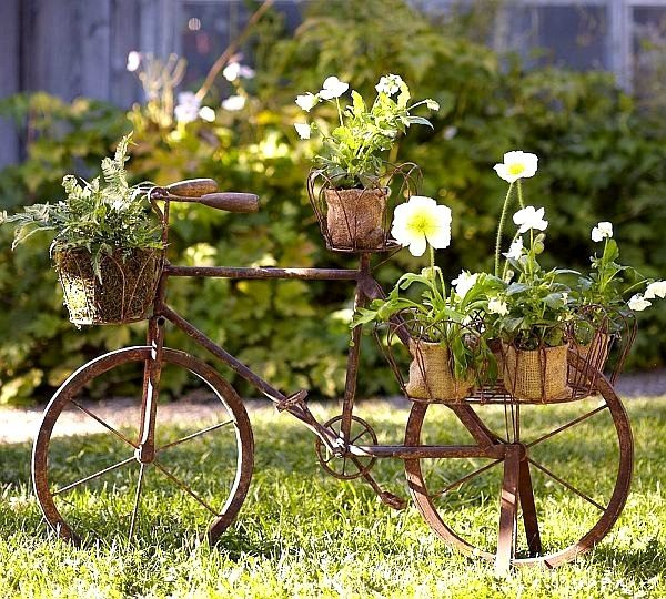 bicycle basket flowers