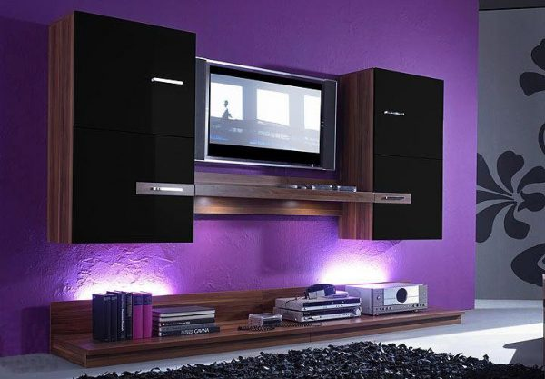 tv on wall design ideas