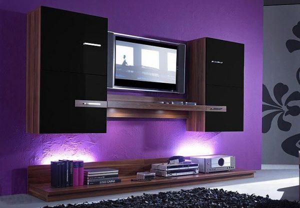 tv on wall design ideas