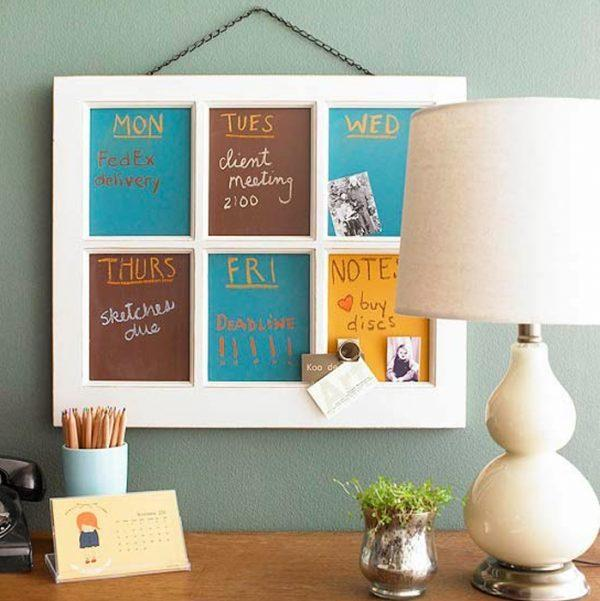 decorating with old window frames