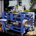 Using pallets in the garden