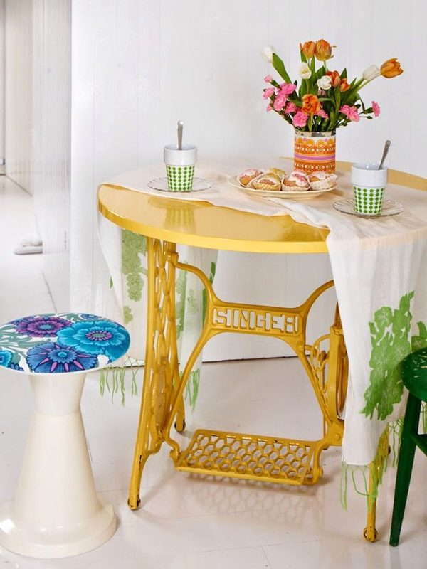 old sewing machine table ideas