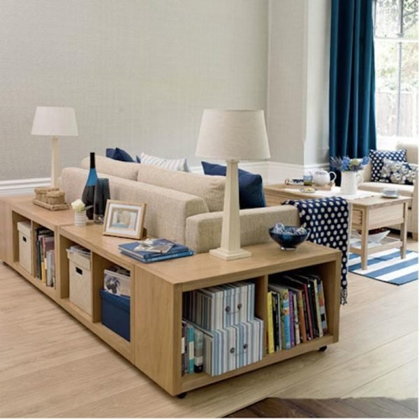 living room furniture with storage