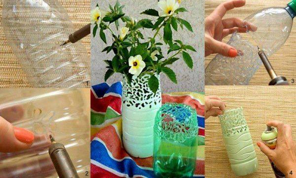 plastic flower vases