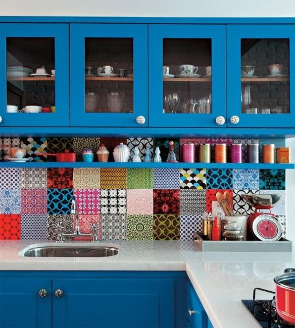 patchwork kitchen wall tiles
