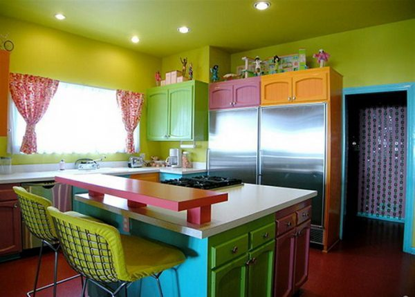 colourful kitchen designs