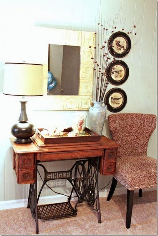 sewing machine decor