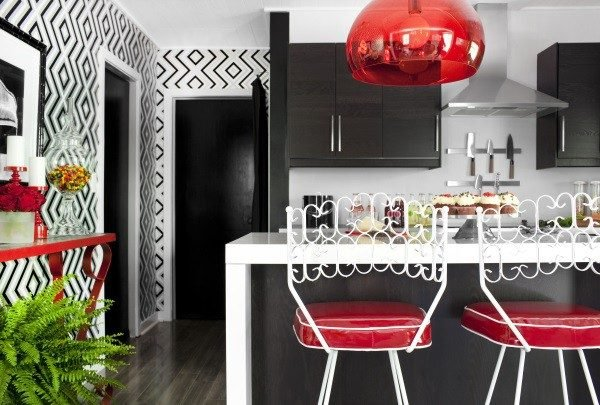 Wallpaper designs for kitchen