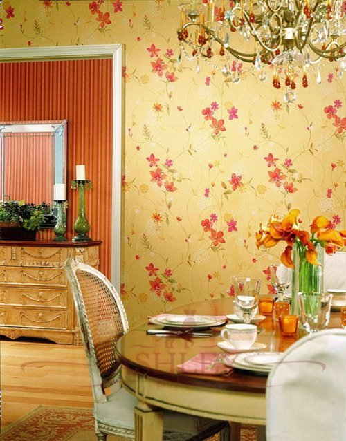 floral kitchen wallpaper