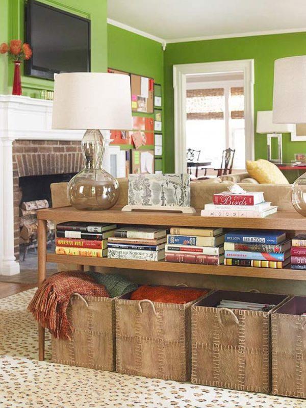 living room furniture storage