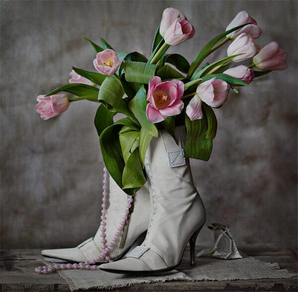 unusual flower vase