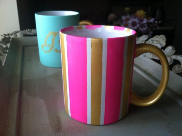 how to paint ceramic mugs