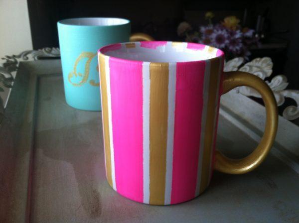 how to paint ceramic mugs