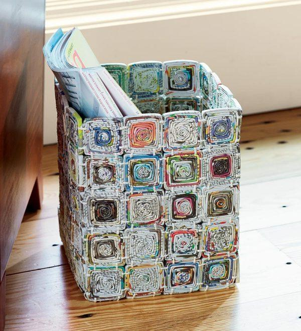 Newspaper craft ideas