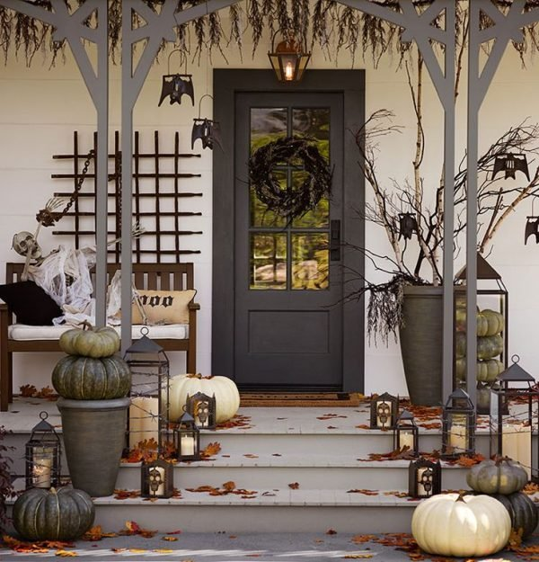 Front porch halloween decoration ideas