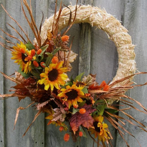 fall front door decorations