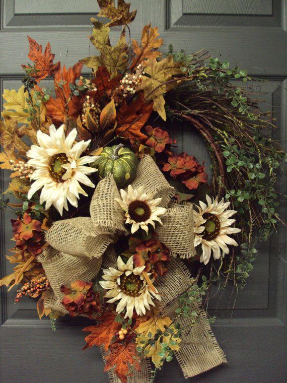fall outdoor wreath