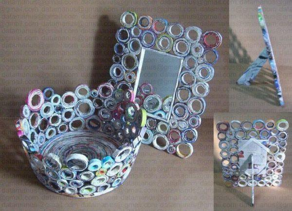 creative ways to recycle newspaper