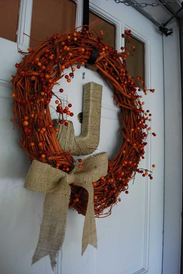 fall door wreaths ideas