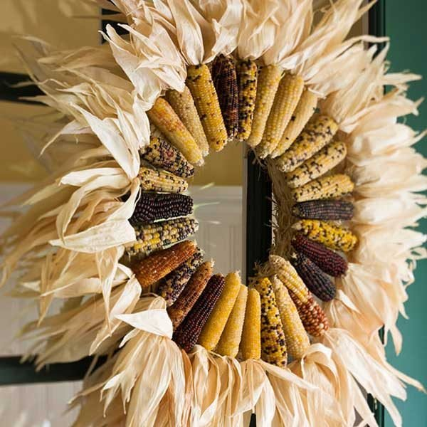 large door wreaths