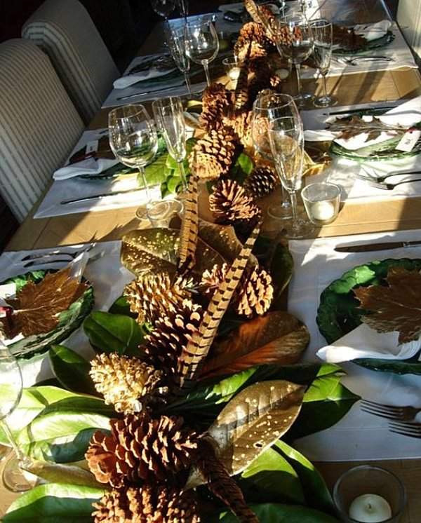 pine cone table decorations