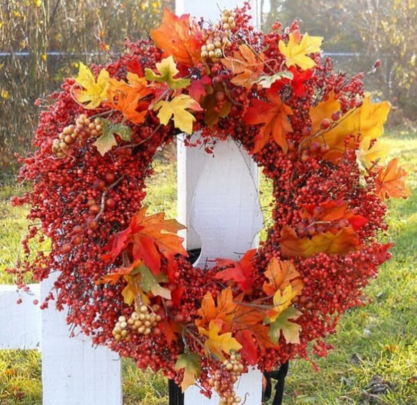 wreath fall