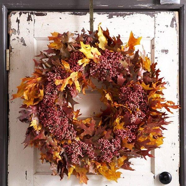 25 Gorgeous Diy Fall Door Wreaths Little Piece Of Me