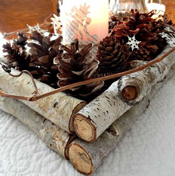 pine cone decor