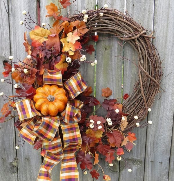 ideas for fall wreaths