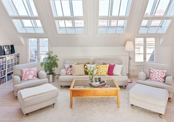 Attic room ideas-15 Functional Solutions for Living Room
