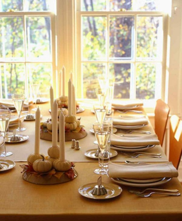 simple thanksgiving table settings