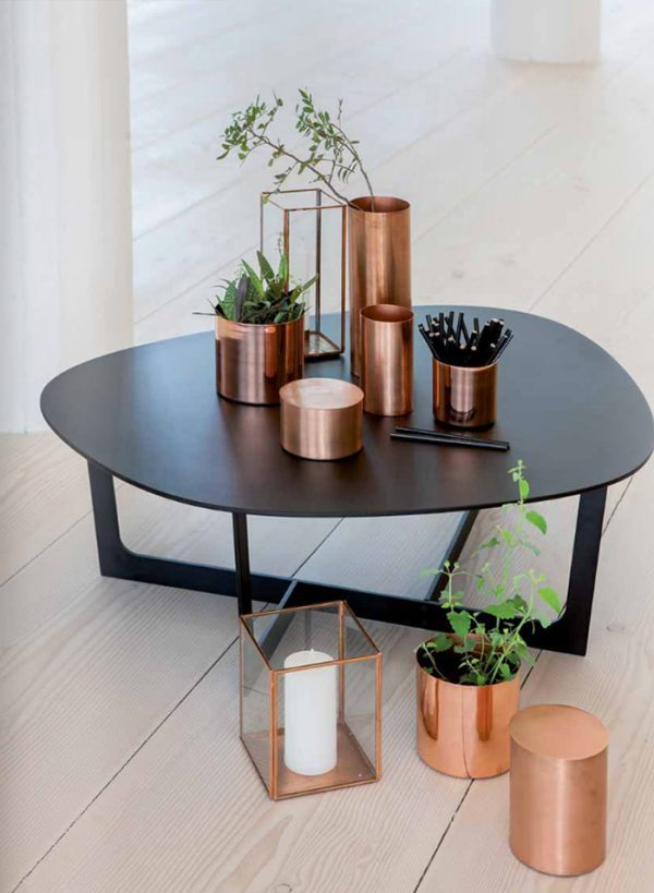 copper decorative pots