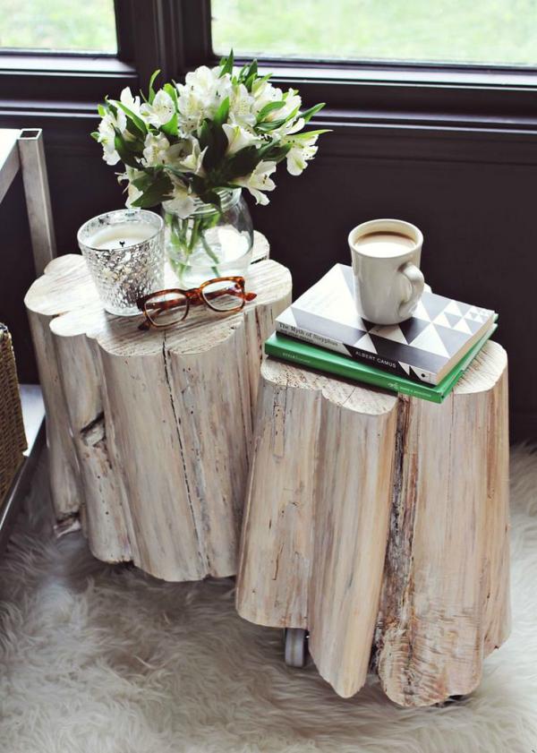 tree stump coffee table