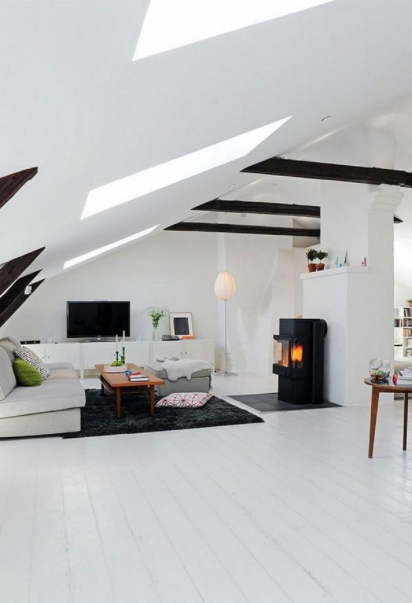 Rooms In Roof Designs: Attic Room Ideas-15 Functional Solutions For The Living Room